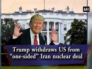 """News video: Trump withdraws US from """"one-sided"""" Iran nuclear deal"""
