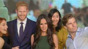 News video: Harry and Meghan waxworks meet at Madame Tussauds