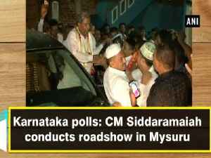 Karnataka polls: CM Siddaramaiah conducts roadshow in Mysuru