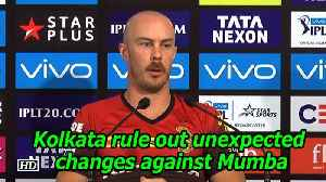 News video: IPL 2018 | Kolkata rule out unexpected changes against Mumbai