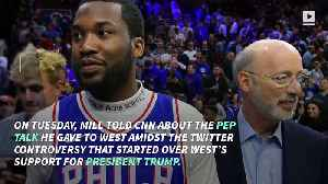 News video: Meek Mill to Kanye West: 'Think 10 Times Before You Speak'