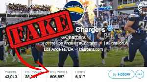 LA Chargers Caught Buying FAKE Followers [Video]