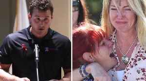News video: Cubs First Baseman Anthony Rizzo Delivers Emotional Speech at Florida School Shooting Vigil