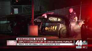 News video: Deputy, bystander seriously injured following crash after suspect pursuit