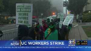 News video: UC Workers Strike Enters 3rd Day
