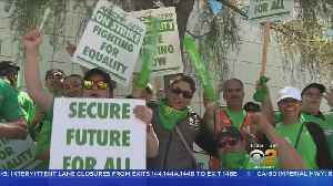 News video: Thousands Of UC Service Workers To Strike In Westwood, Irvine, Riverside