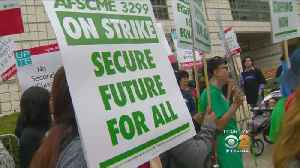 News video: UC Service Workers Out In Force For Last Day Of Strike