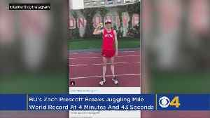 News video: BU Runner Reportedly Breaks World Record For Fastest Mile While Juggling