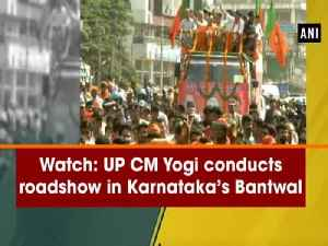 Watch: UP CM Yogi conducts roadshow in Karnataka's Bantwal