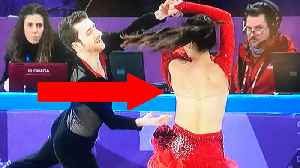 News video: Ice Dancer Yura Min Suffers MAJOR Wardrobe Malfunction at the 2018 Winter Olympics