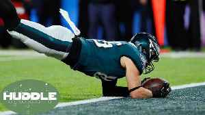 News video: Catch or NO Catch!? Tight End Zach Ertz's Super Bowl Touchdown Sparks Controversy -The Huddle