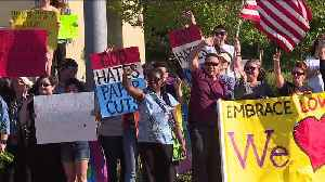 News video: Hundreds of Counter-Protesters Stand Up to Three Members of the Westboro Baptist Church