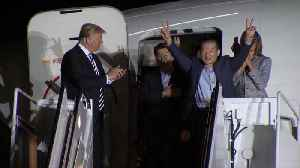 News video: 3 Americans Welcomed Home from North Korea