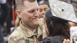 News video: Military Father Surprises Daughter During Her College Graduation