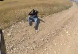 News video: Israeli Police Video Shows Suspect Flip His Bike During Escape Attempt