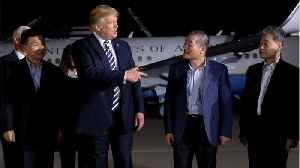 News video: Trump Greets Americans Freed From North Korea