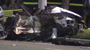 News video: 2 Killed in Fiery, High-Speed Crash in Southern California