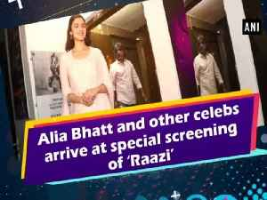 Alia Bhatt and other celebs arrive at special screening of 'Raazi'