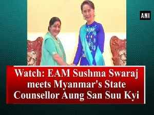 News video: Watch: EAM Sushma Swaraj meets Myanmar's State Counsellor Aung San Suu Kyi