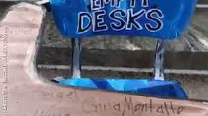 News video: Student Walkouts Feature Empty Desks for The Lives Lost to Guns
