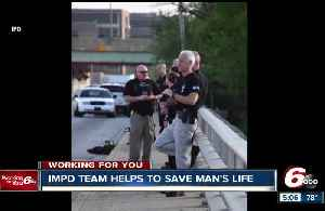 News video: IMPD crisis team saves man threatening to jump from Indy bridge