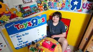 News video: Boy With Autism Creates Toys R Us at Home With Signs From Closed Store