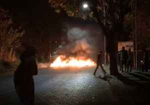 News video: Barricades of Fire Set Up Around University as Deadly Clashes Break Out During Protests