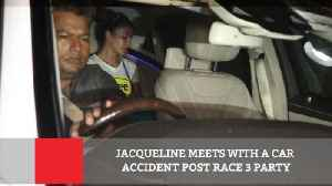 News video: Jacqueline Meets With A Car Accident Post Race 3 Party