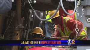 News video: Goldstein Investigation: $1.3M Paving Machine Homeless Man Was Using For Shelter Back On The Road After CBS2 Report