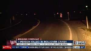 News video: 1 teen killed after truck rolls over near Kyle Canyon, Sky Pointe