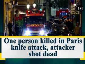 News video: One person killed in Paris knife attack, attacker shot dead