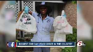 News video: USPS collects thousands of pounds of food during biggest one-day food drive in the country