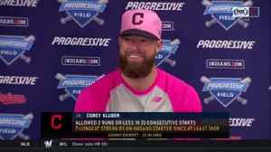 News video: Corey Kluber cracks smile talking about top of Indians' lineup