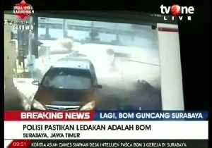 News video: Suicide bomb targets police HQ in Surabaya