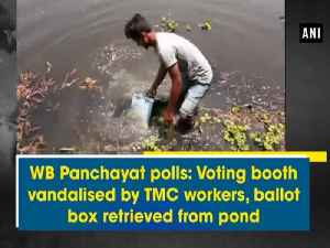News video: WB Panchayat polls: Voting booth vandalised by TMC workers, ballot box retrieved from pond