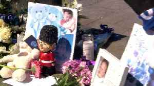News video: Crowds line the streets for toddler Alfie Evans' funeral