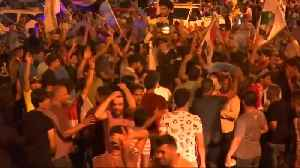 News video: Sadr fans celebrate as cleric takes lead in Iraq
