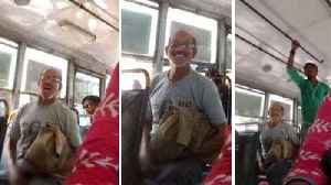 News video: Indian man caught masturbating on a bus is arrested by police after video goes viral