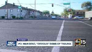 News video: Man found dead in Phoenix with obvious signs of trauma