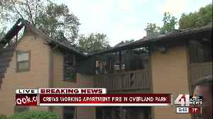 News video: Crews battle two-alarm apartment fire in Overland Park