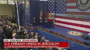 News video: US Embassy Opening In Jerusalem Met With Protests