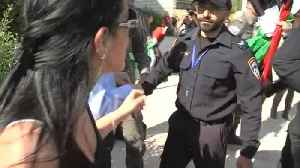 News video: Israeli police forcibly remove protesters outside U.S. embassy event