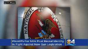 News video: Judge Tells NRA It Must Use Real Names In Lawsuit Over State's Gun Safety Bill