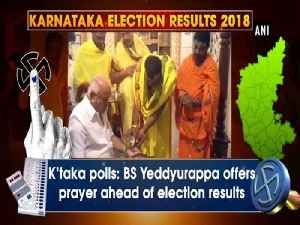K'taka polls: BS Yeddyurappa offers prayer ahead of election results