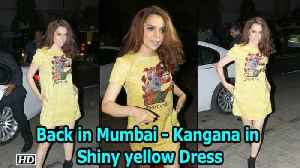 News video: Back to Mumbai- Kangana shines in Shiny Green Dress