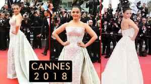 News video: Cannes 2018 Aishwarya Rai In An Off Shoulder Gown Day 2 Red Carpet Look