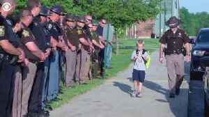 News video: 5-year-old boy gets police escort to school after dad killed in line of duty
