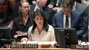 News video: Nikki Haley Defends Israel's Defense Of Its Borders, Walks Out Of UN Security Council