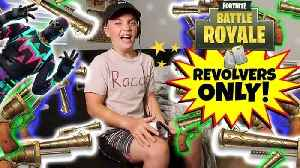 News video: FORTNITE BATTLE ROYALE REVOLVER CHALLENGE! (ROCCO PIAZZA)