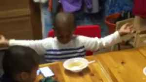 News video: Little Boy Goes Nuts Over Good Food